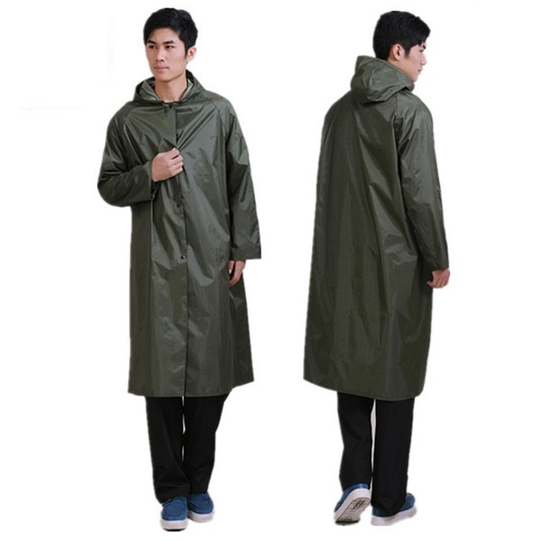 High Quality Long Rain Coat Men Women Rainsuit Windproof Outdoor Fishing Tour Rainwear Camp Poncho waterproof traval Raincoat #179564