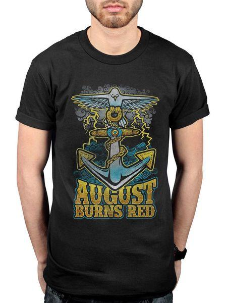 Oficial August Burns Dove Âncora T-Shirt Mensageiros Thriller Seeker Leveler AB