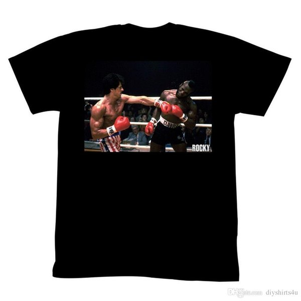 Rocky T-Shirt Left Hook In Ring Factory Outlet Tee T Shirt Men Designed Short Sleeve Fashion Custom 3XL Couple Tshirts
