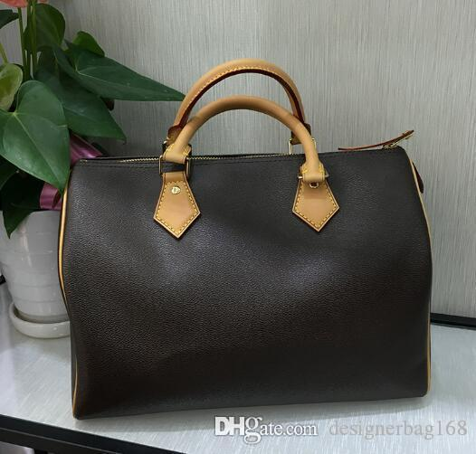 best selling Luxury Designer Woman Handbags Classic Brown L Letter Small Duffel Bags Shoulder Strap Bags High Quality Leather Cross body Shop Tote Bag 35
