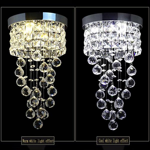 Lámpara de techo nuevo llevada moderna pequeña araña de cristal de iluminación para la cocina armario de baño dormitorio de la lámpara decorativa de 20 cm de diámetro