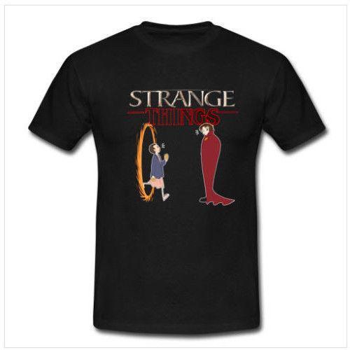 Doctor Strange x Strange Tee Cotton Tshirt Black New Men's T-shirt Size S to 3XL Cool Casual pride t shirt men