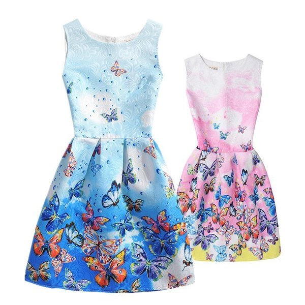 Summer Mother Daughter Dresses Clothing Family Matching Outfits Mommy And Me Vestido Fashion Print Dress Family Look Clothes Y19051103
