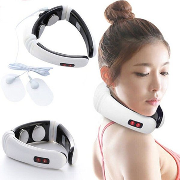Electric Pulse Neck Massager Cervical Vertebra Impulse Massage Physiotherapeutic Acupuncture Magnetic Therapy Neck Massager Relief Pain Tool