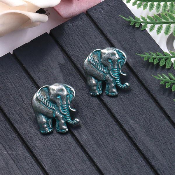 New Arrival Cute Elephant Animal Retro Metal Stud Earrings Women Personalized Brinco Fashion Design Earrings Ear Nails Female