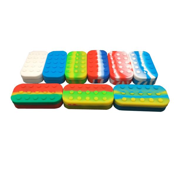 Оптовый Силиконовый Контейнер для пищевых продукты Multi- Отсеки Большого силиконового Nonstick Dab Контейнер Лоток для Dab Wax