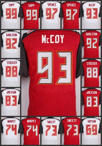 quality design d79ef e46c5 2019 Men Tampa Bay #99 Warren Sapp Woman Buccaneers Jerseys 97 Akeem Spence  93 Gerald McCoy 92 William Gholston Youth Embroidery Jersey From ...