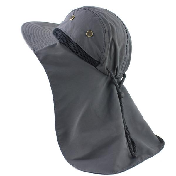 Summer Sun Hat Bucket Uomo Donna Boonie Hat con collo al collo Protezione UV esterna Large Wide Brim Hiking Fishing Mesh Traspirante
