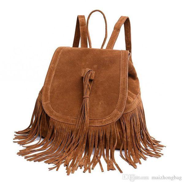Nice Brand Desginer Bag Euramerican Fashion Leisure Backpack Travel Backpack Retro Tassel Backpack For Women Bag