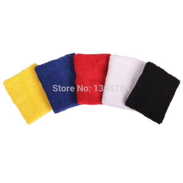 AOLIKES 10 Pcs/lot 8*8.5cm Cotton Sports Wristbands Sweatband Volleyball Tennis Gym Fitness Wrist Brace Wholesale
