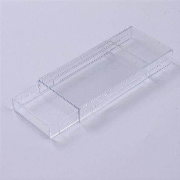 20pcs Acrylic False Eyelashes Packaging Box Blank Logo Opening Drawer Design Storage Boxes Cosmetic Fake Mink Lashes Empty Case