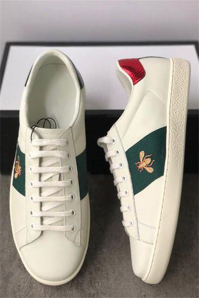 Дизайнерские туфли Кристалл с вышивкой Ace Кожаные кроссовки Низкие кожаные кросс