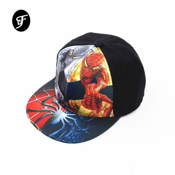 Новая хип-хоп шляпа Человек-паук бейсболка открытый мультфильм козырек хип-хоп паук супермен кепка Спорт Snapbacks