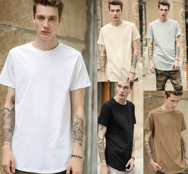 European and American foreign trade mens advertising shirt tide summer youth mens t-shirt solid color cotton short-sleeved t-shirt Summer