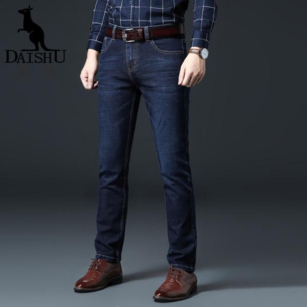 Marca 2.019 novos homens de moda super-XL calça jeans negócio ocasional jeans stretch magros calças clássicas de grande porte dos homens magros 28-44