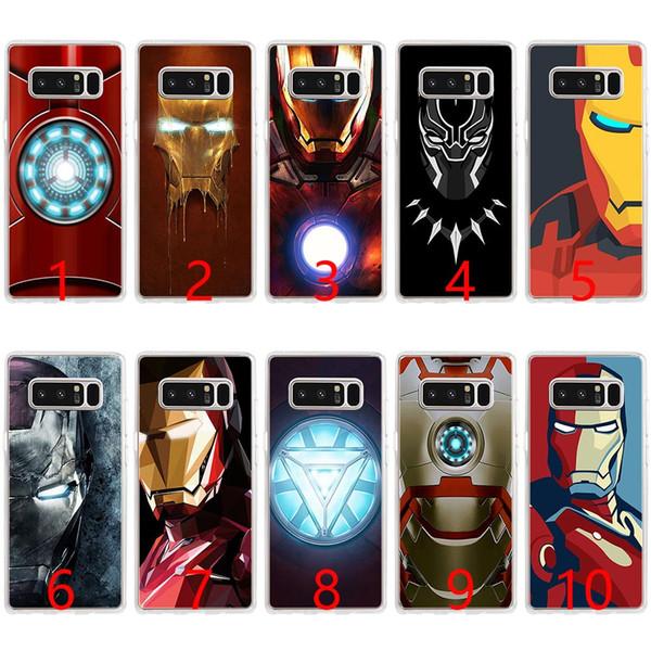 Coque en silicone souple Marvel Avengers Heroes pour Samsung Note 9 8 S7 Edge S8 S9 Plus