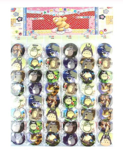 Heißer Verkauf 96 PC / 2SET populäre Karikatur Mein Nachbar Totoro Abzeichen 4.5cm Cartoon Brosche Anstecker Pin, Kinder-Party-Geschenk