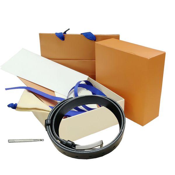 top popular Belts mens womens Belt Black Genuine Leather black Gold Smooth Buckle with orange Box orange Dust Bag orange Gift Bag 84 679 2021