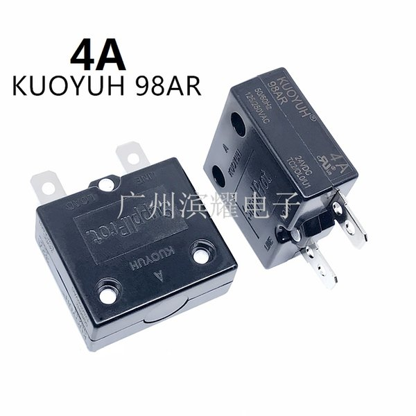 top popular Taiwan KUOYUH 98AR-4A Overcurrent Protector Overload Switch Automatic Reset 2021