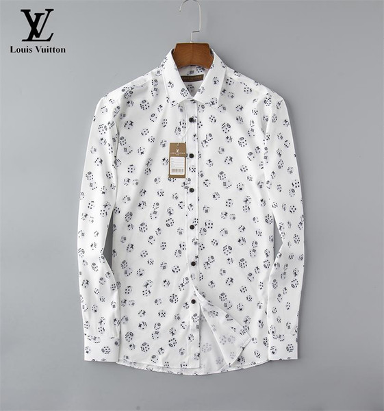 top popular American business brand self-cultivation plaid shirt, fashion designer brand long-sleeved cotton casual shirt striped co-dress shirt t04 2020
