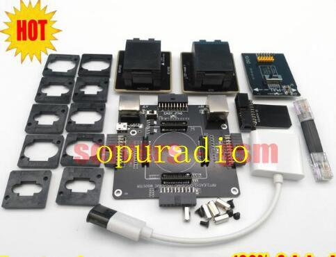Più nuovo originale E-MATE BOX EMMC doule E-Socket Supporto BGA100 136 168 153 169 162 186 221 529 254 per Easy jtag plus UFI box Rif