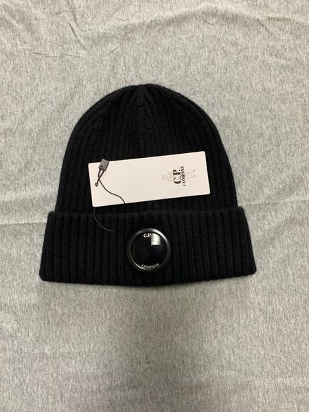 CP COMPANY BONNETS un lunettes hommes chapeaux automne hiver chaud bonnets tuques de ski en plein air chapeaux noir CP bleu gris