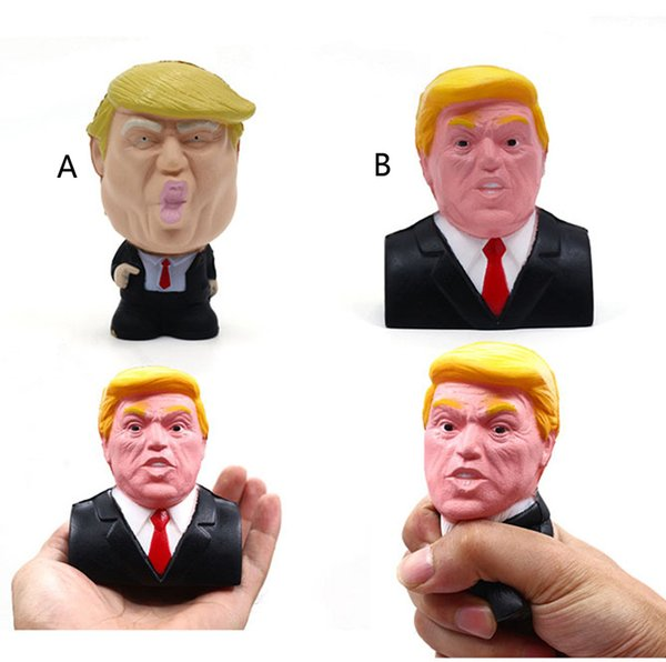 Donald Trump Stress Squeeze Ball Jumbo Squishy Toy Cool Novelty Pressure ReliefKids Doll Decor Squeeze Fun Joke Props Gift toys C5