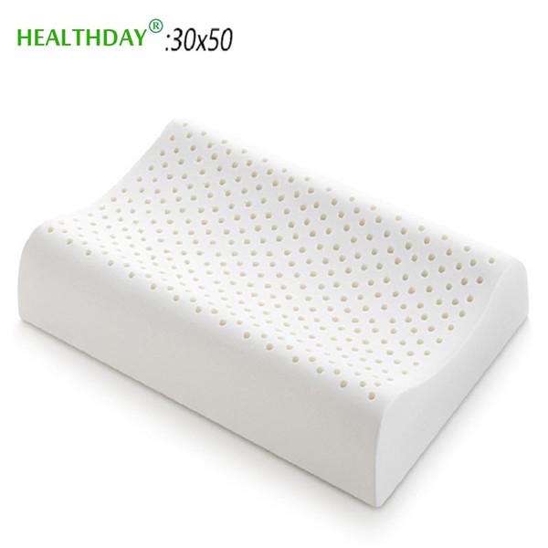 Almohada ortopédica transpirable de látex natural para el cuello Suave rebote lento Suave y segura Protege la almohada de ropa de cama para el cuidado de la salud del cuello uterino