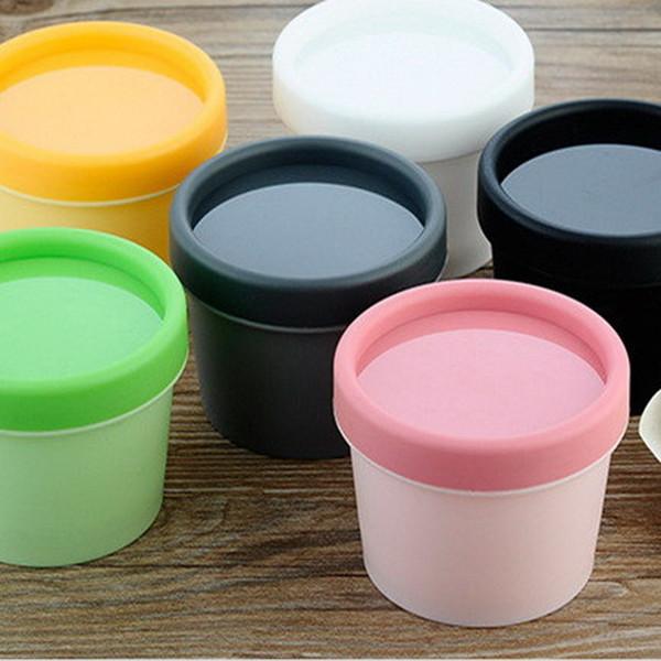 20PCS 50 ml 100 ml Gram contenitori cosmetici vuoto cilindro maschera PP bottiglia Box maschera facciale barattoli crema cosmetica imballaggio