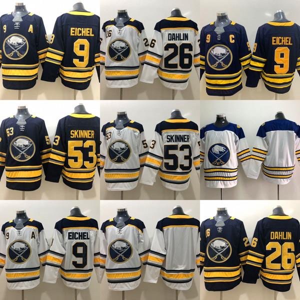 hot sale online 056d4 7d68d 2019 53 Jeff Skinner Jersey Buffalo Sabres 9 Jack Eichel 26 Rasmus Dahlin  Hockey Jerseys From Huohuo2014, $20.41 | DHgate.Com
