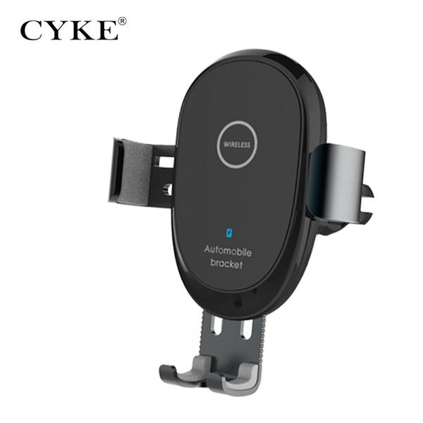 Cyke Universal-Schnell 10W Funk-Kfz-Ladegerät Handy-Ladegerät Lüftungsschacht Mount-Telefon-Halter für iPhone XS Max für Xiaomi huawei