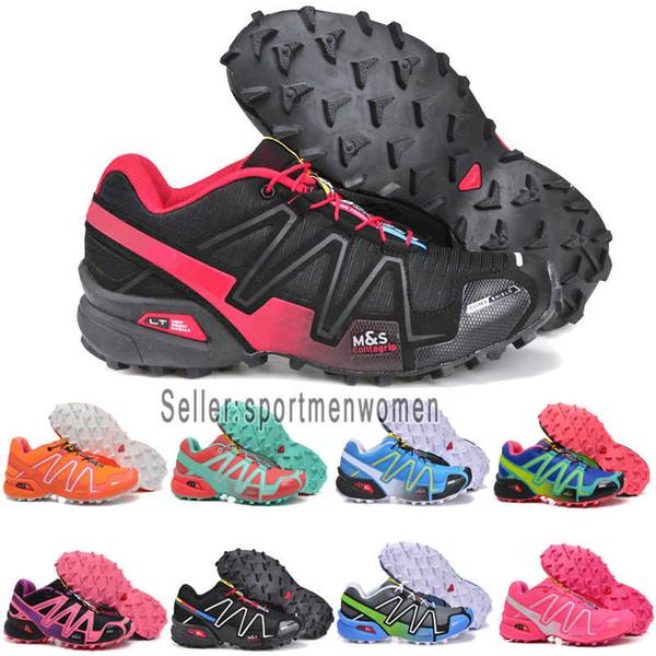 Großhandel 2019 Designer Shoes Salomon Men Women Solomon Herren Schuhe Speed Cross 3CS III Sport Sneakers Herren Schwarz Sportliche Speedcross