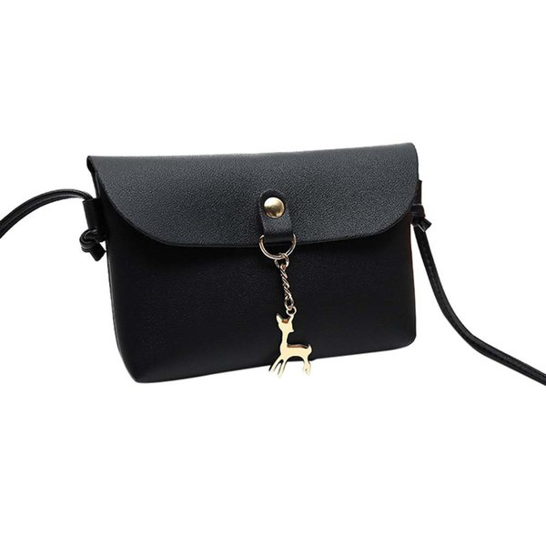 Cheap Women bags Women's Vintage Small Deer Pendant Leather Cross body Shoulder handbags Casual Ladies Purse bolsos mujer verano #3
