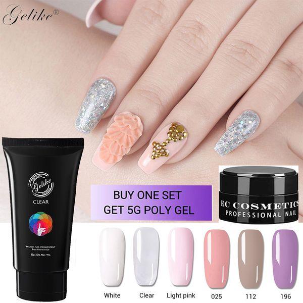 Gel Nail Polish Application Acrylic Base And Top Coat Polygel Cleanser Glitter Colours Nail Kit Finger Extension At Home Varnish Uv Gel Nails Bio Gel