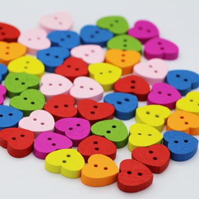 Hot cartoon colorful wooden Buttons for crafts DIY heart animal letter sewing supply scrapbooking accessories decorativos mixed color