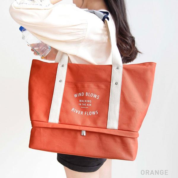 Gym Bag Shoulder Crossbody Bag Oversized Canvas Storage Shoe Mummy #705860