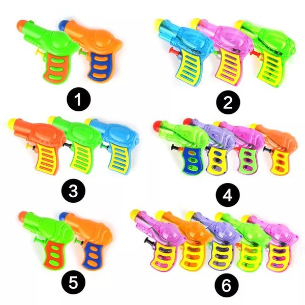 Plastic Extrusion Mini Small Gun Summer Outdoor Hot Beach Toys Run Men's Mini Water Variety Random Color For Kids Games