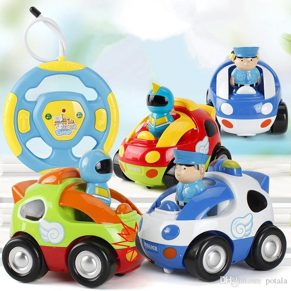 RC Cars Mini Cartoon Astronaut Remote Control Race Car With Music & Light Children Educational Toy Christmas Gift For Kids Baby carton boxes