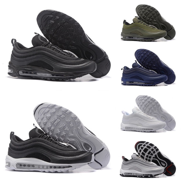 Nike air max 97 Vente chaude femmes hommes formateurs baskets chaussures de course ont une belle journée 2019 mesh coureur chaussures confortables