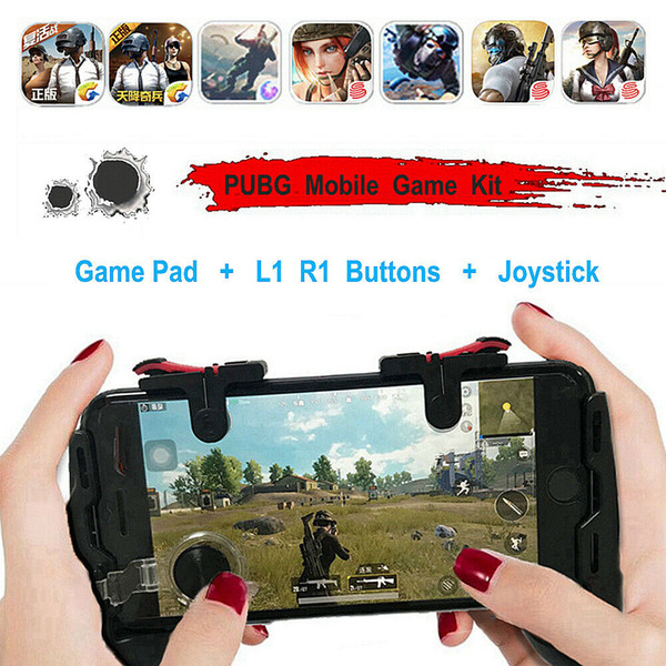 4 em 1 PUBG Controlador Moible Gamepad Grátis L1 R1 Acionadores de Jogo Móvel Pad Aderência L1R1 Joystick para iPhone Android telefone