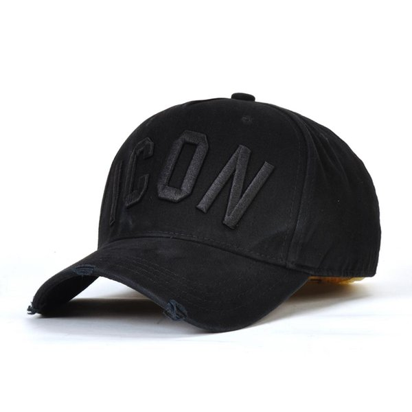 2019 popularICON baseball caps hats brand icon Cotton Embroidery hats for men 6 panel Black snapback hat men casual visor gorras bone casque