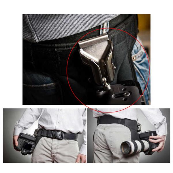 Fotostudio Fotostudio-Kits Aluminiumlegierung Kamerahalterung Button Buckle Aufhänger für DSLR-Kamera-Bund-Gurtbandhalterung