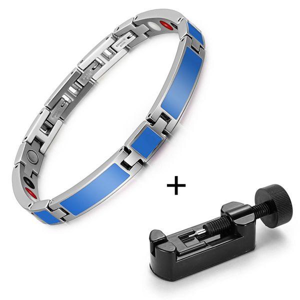 Blue bracelet tool
