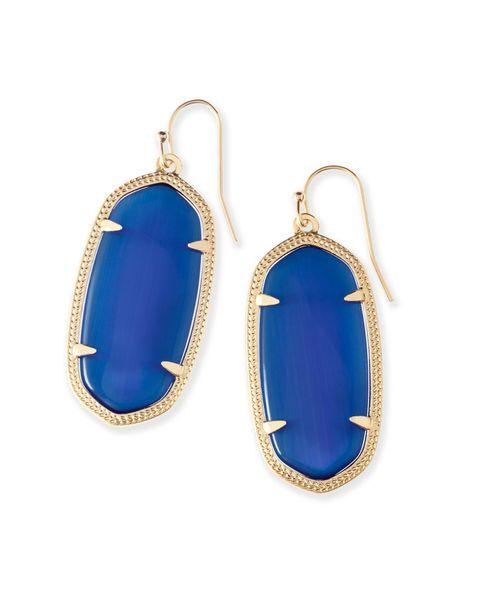top popular 2019 fashion earrings gift European American women designer wholesale manufacturer earrings silver jewelry party blue triangle 2019