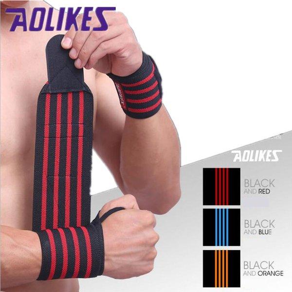 Sport Cotton Elastic Bandage Hand Sport Wristband Gym Support Wrist Brace Fitness Tennis Polsini Sweat Band Munhequeira 1pcs B