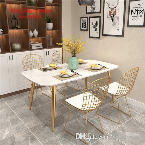 Wire chair, backrest chair, creative leisure home dining chair, European style modern simple hollow chair.