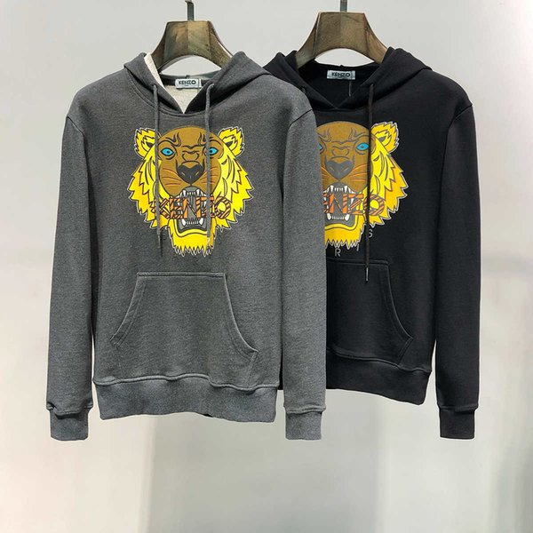New pullovers hoodies for men Unique Tiger Head Design Embroidery jumpers leisure top quality best hot selling