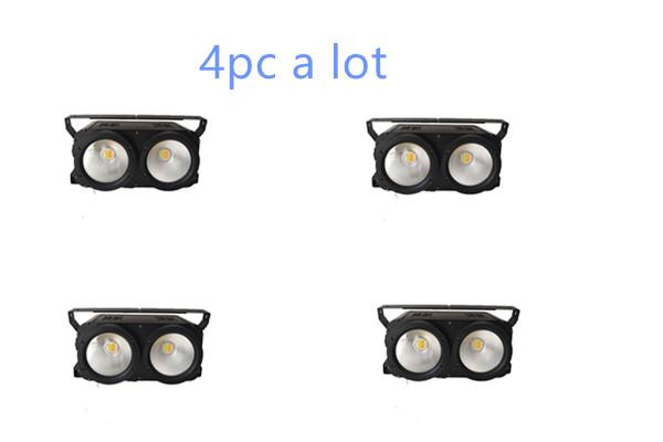 4pc/lot IP20 COB 2*100w 2 Eyes Cold white + Warm white /2x100W white&warm white 2 in 1 Stage Led Audience led blinder Light