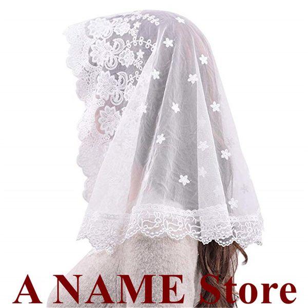 2019 Black white Lace Veil Mantilla for Church Head Covering Catholic Latin Mass mantilla negras vela negra Voile Noir