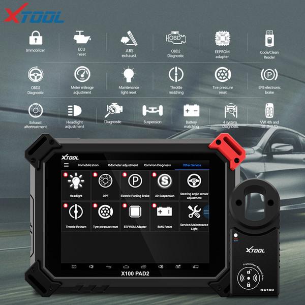 X100 PAD2 OBD2-Diagnosewerkzeug mit 4. und 5. Immo-Selbstschlüsselprogrammierer Alle Sonderfunktionen für die meisten Fahrzeugmodelle